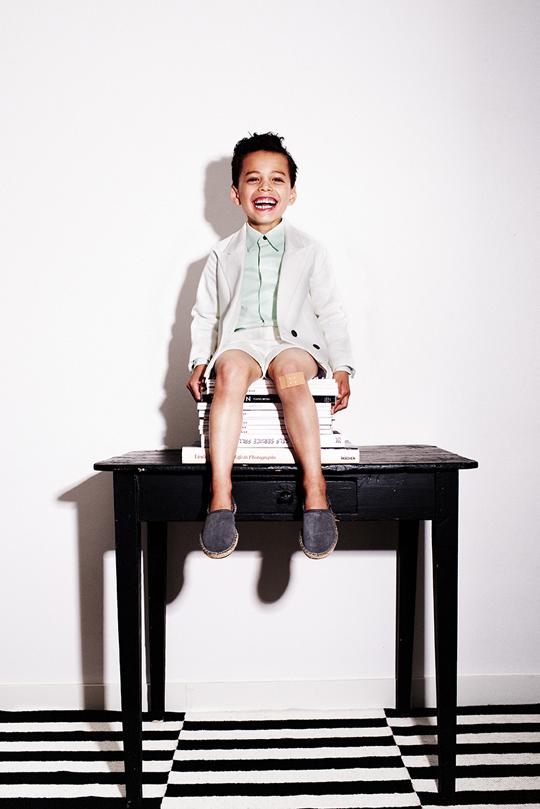 23 My Little Dress Up SS14 Oliver jacket Vanilla - Guy shirt Pistache - Doniie shorts Vanila - 72 dpi