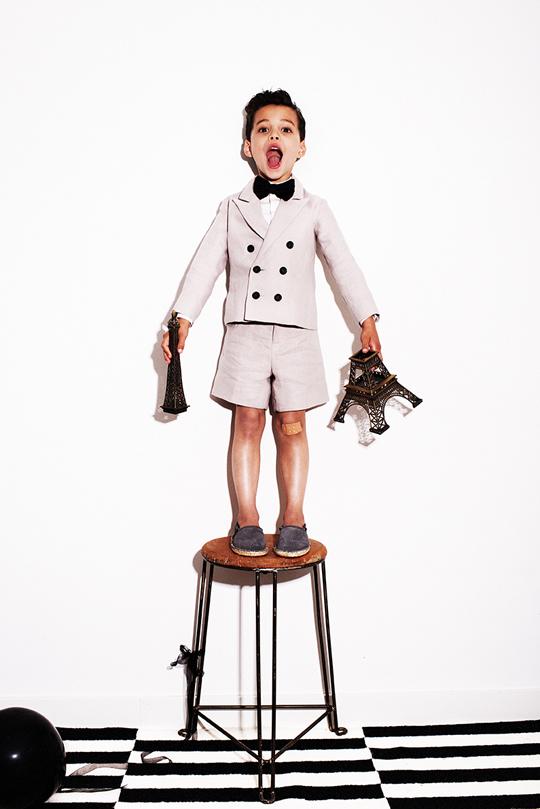 24 My Little Dress Up SS14 - Oliver jacket Steel - Guy shirt Vanilla - Bow Tie - Donnie shorts Steel - 72 dpi